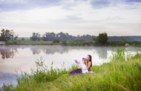 Фотосессия на природе. Мама и дочка