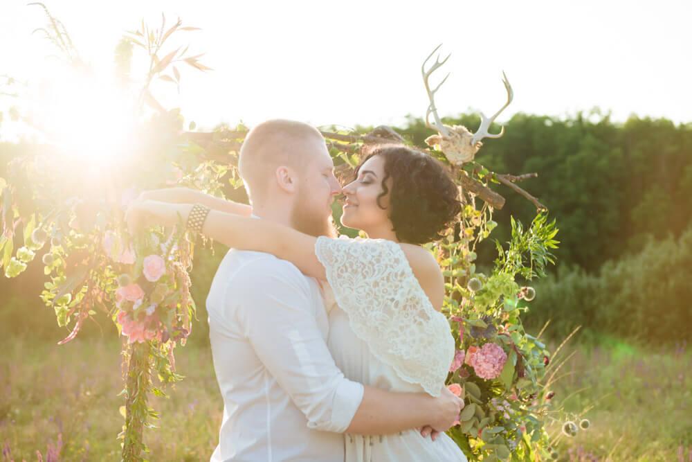Свадебная фотосессия в стиле Бохо