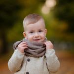 Детская осенняя фотосессия в парке в Ростове-на-Дону