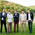Свадебная фотосессия. Жених и друзья